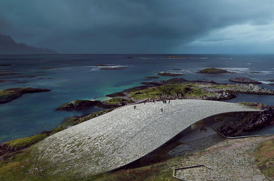 'The Whale', the winning design for the new visitor center on Andøya in northern Norway.