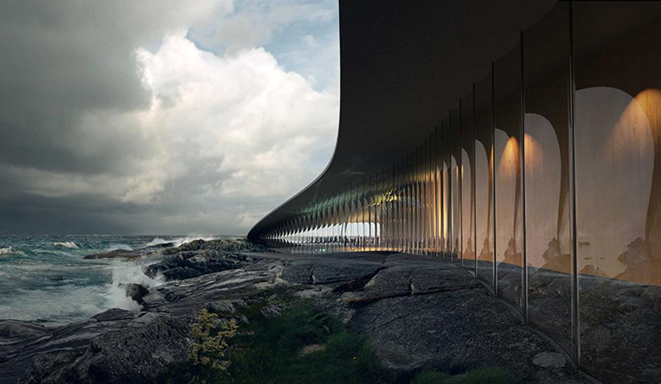 The windows of the proposed visitor center for Andøya.