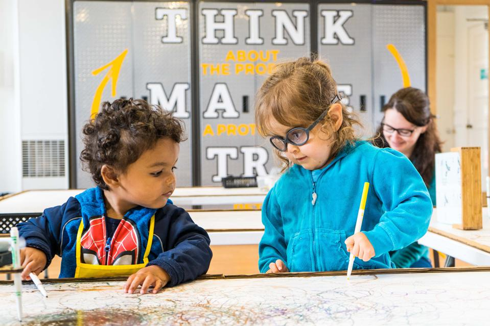 Children learning at the Bay Area Discovery Museum