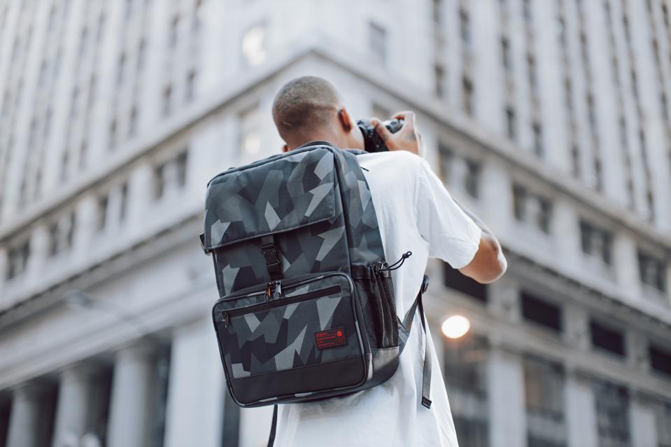 The Hex Back Loader DSLR backpack in use