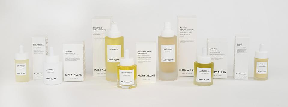 """Mary Allan says of her skincare line: ″My line is water and oil based, as our skin needs both lipids and water for optimal skin health."""""""