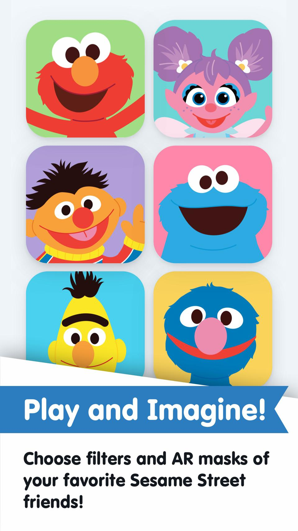 Kids can use augmented reality to play with their favorite Sesame Street characters