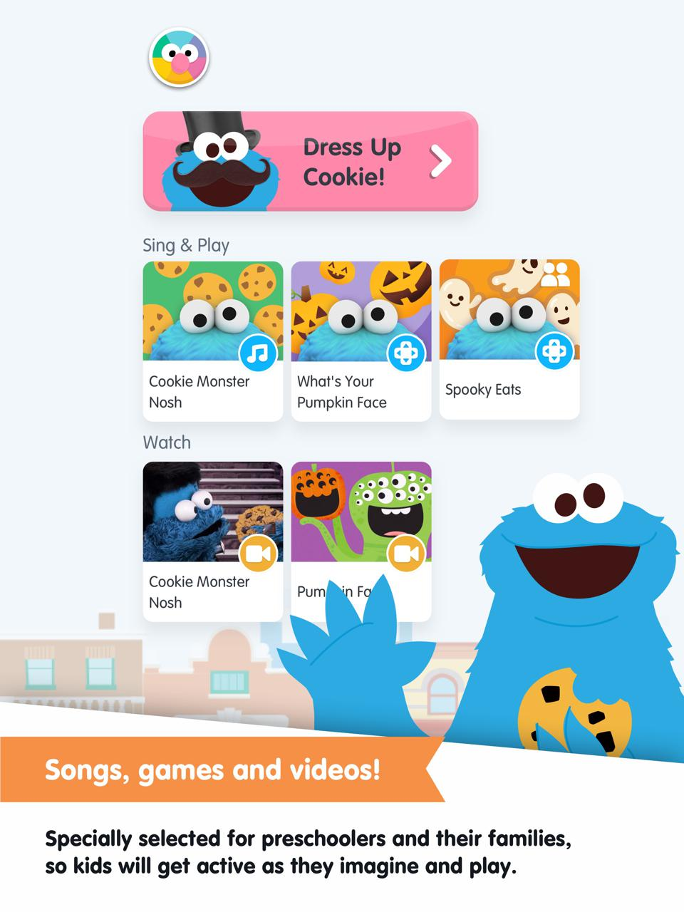 AR is how kids can access the new 50th Anniversary Sesame Street app