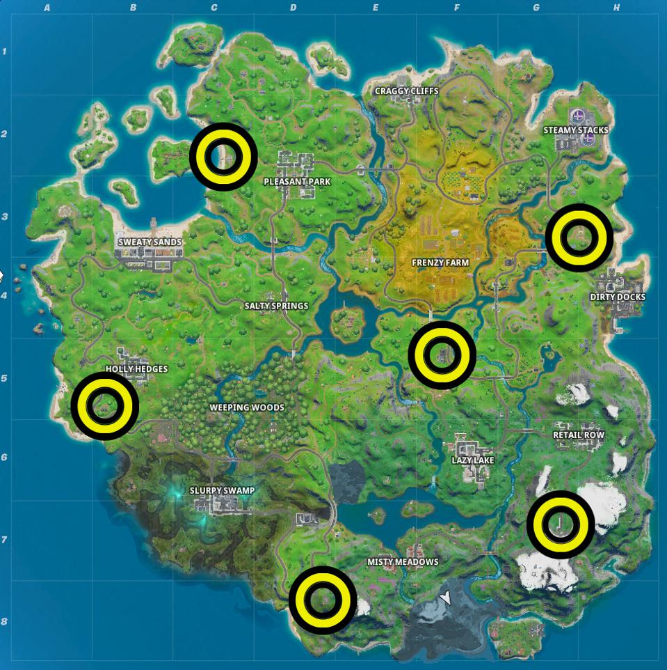 Fortnite Ego Outpost Locations Where To Visit 5 Different