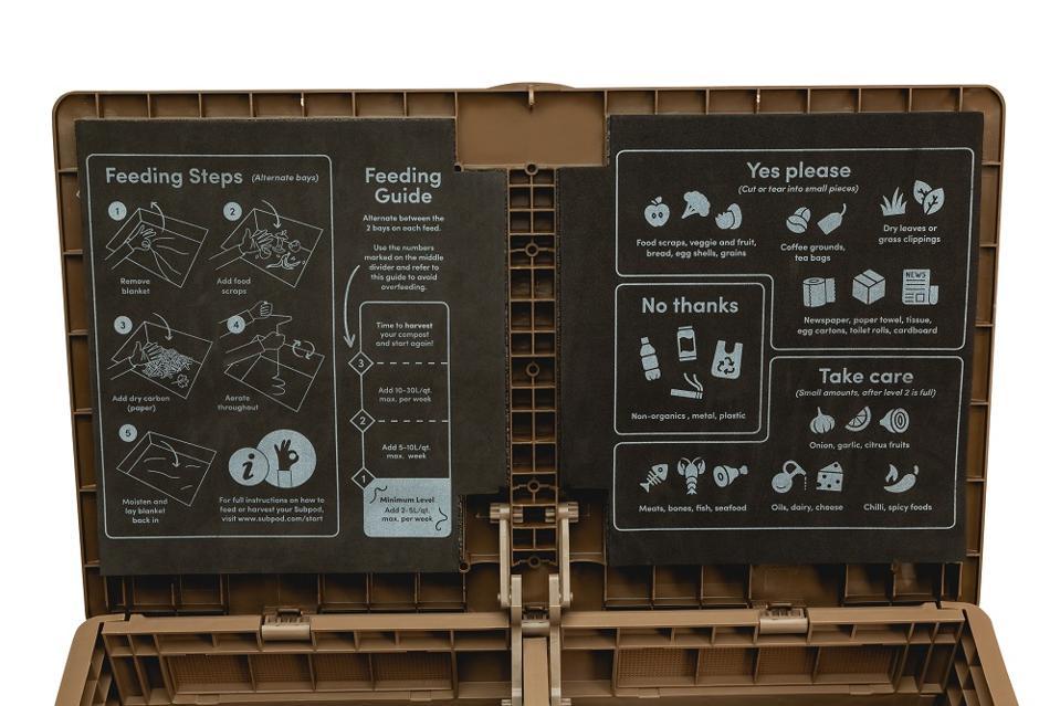 Subpod composting instructions