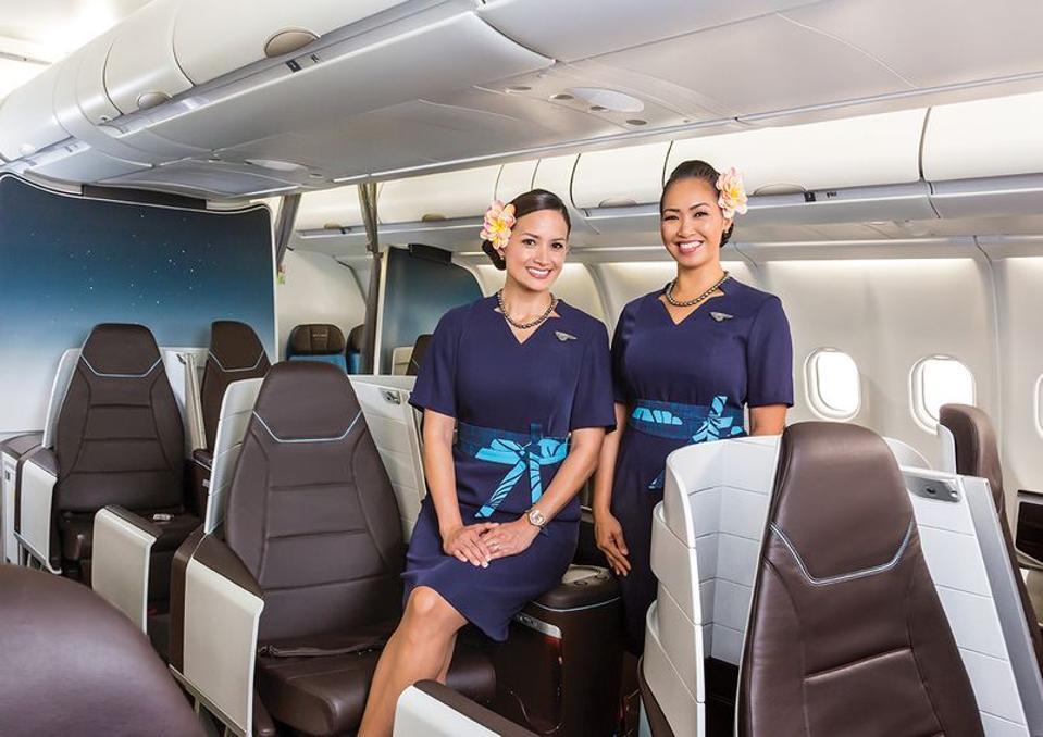 Hawaiian Airlines crew