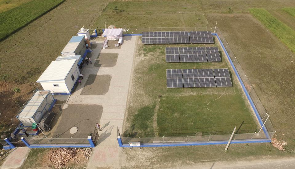 This Microgrid was set up by The Rockefeller Foundation's Smart Power India program