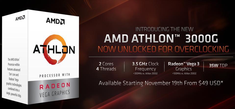 AMD's Athlon 3000G