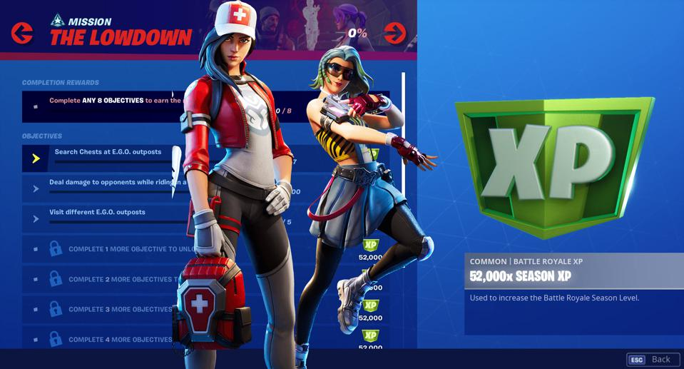 Fortnite Chapter 2 Week 5 The Lowdown Challenges