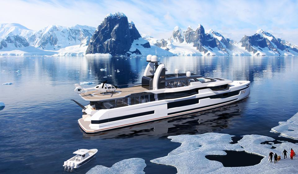Heesen teamed up with Winch Design to produce their Xventure line of explorer yachts