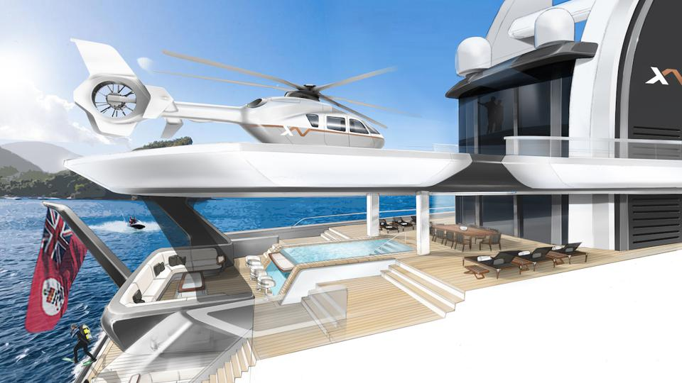 A true explorer yacht must have a robust helicopter