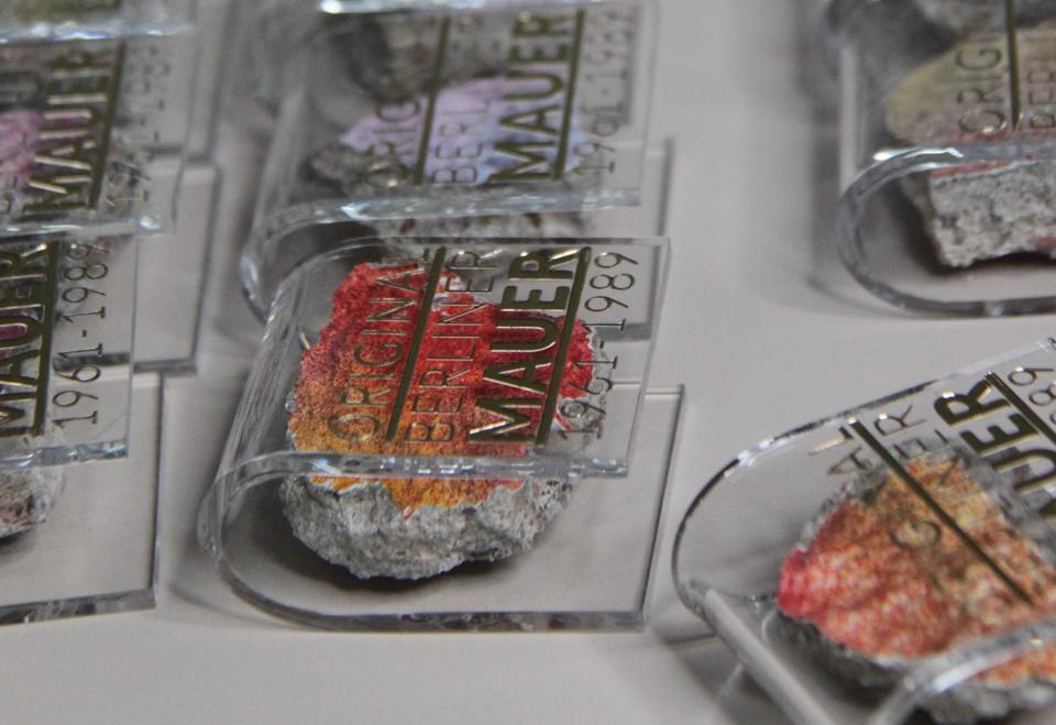 Pieces of the Berlin wall have found a new life as popular souvenirs.
