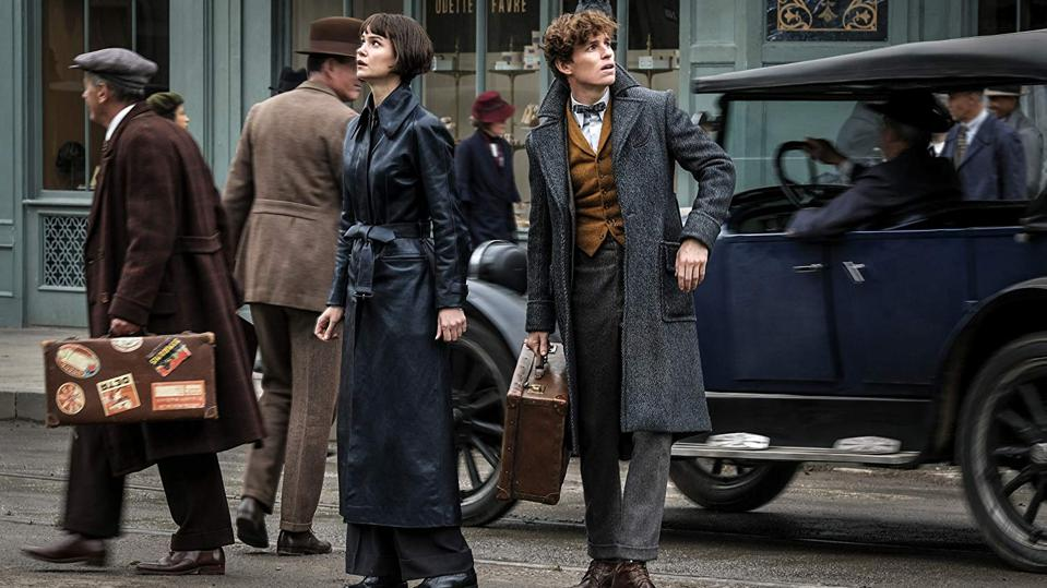 Eddie Redmayne and Katherine Waterson in 'Fantastic Beasts The Crimes of Grindelwald'