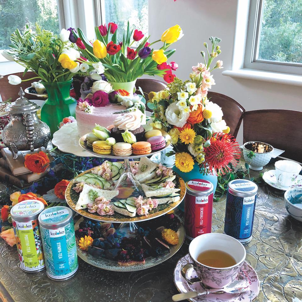 Kikoko, cannabis tea, High Tea parties, luxury cannabis, cannabis