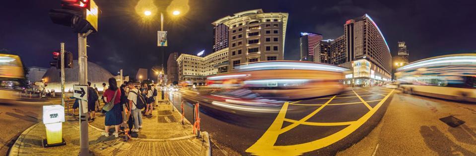 A panorama from the QooCam 8K, via Kandao.