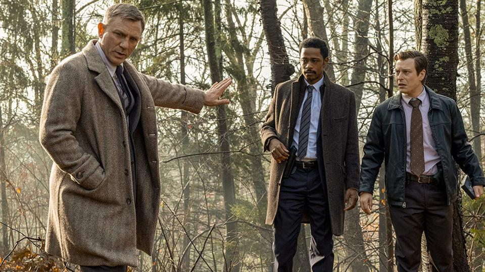Daniel Craig, Noah Segan, and LaKeith Stanfield in Knives Out