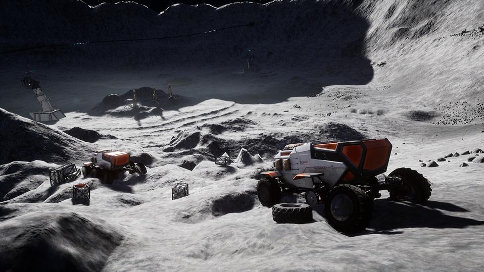 indie game, moon, space