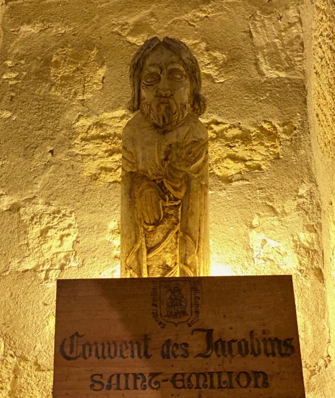 A monk - symbol for Couvent des Jacobins