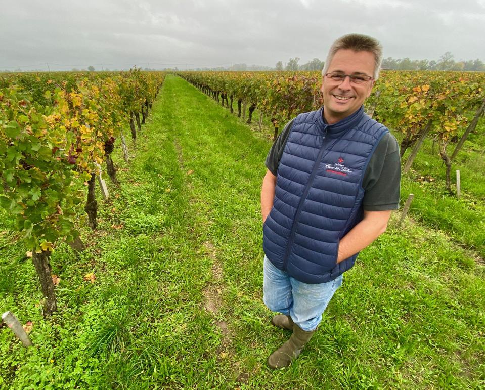 Co-owner/winemaker Pierre Courdurié of Croix de Labrie