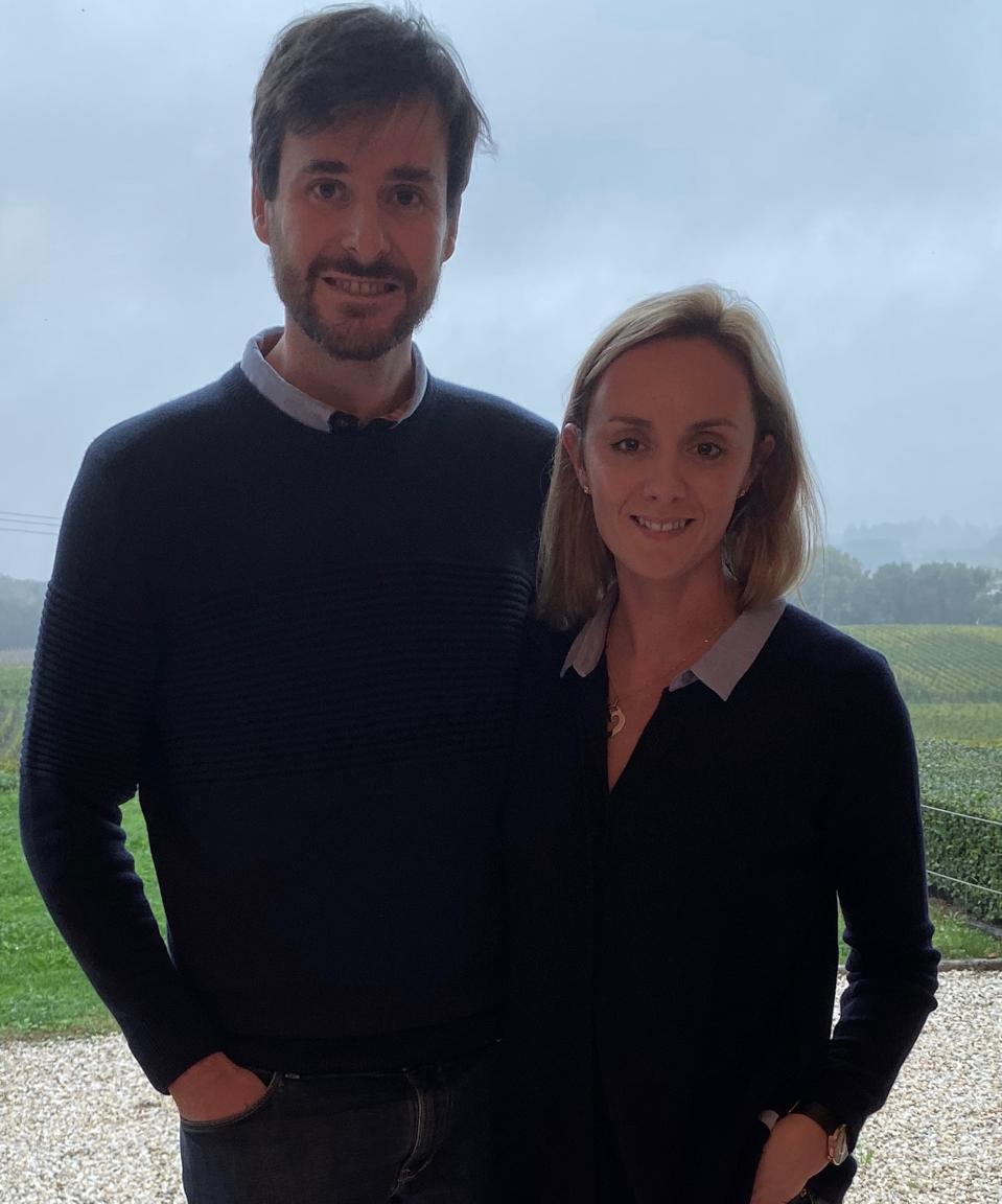 Ludovic and Caroline of Château Fleur Cardinale