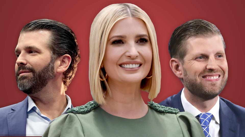 Ivanka Trump, Eric Trump, Donald Trump Jr.