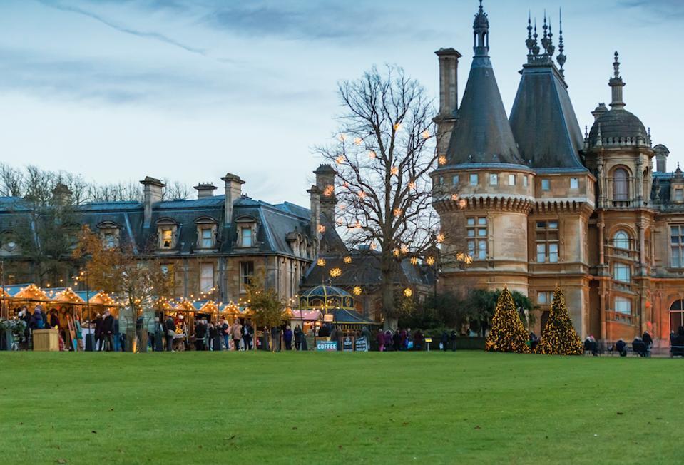Waddesdon Manor during the holidays.