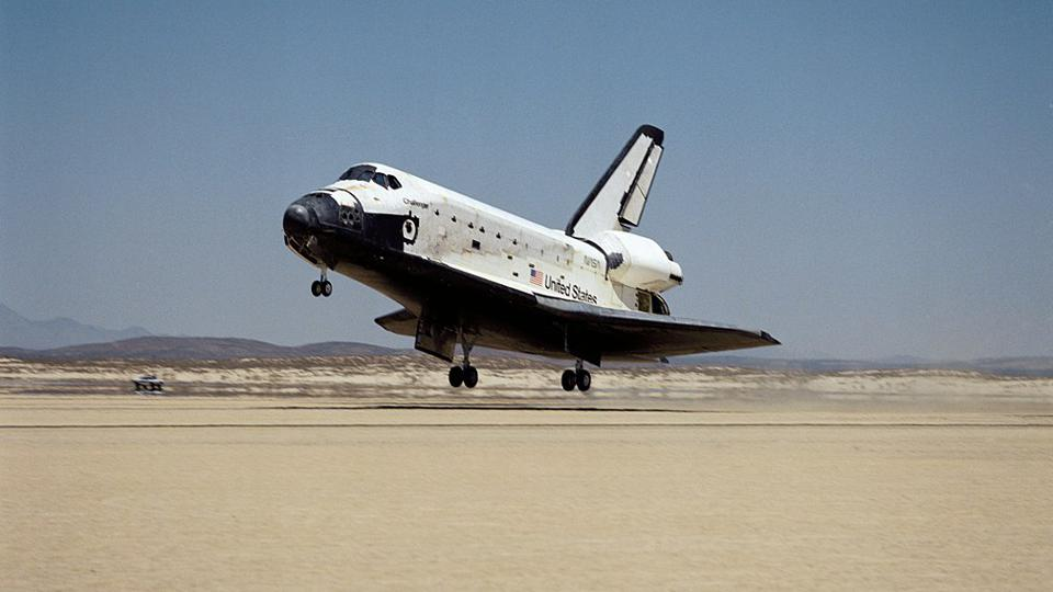 STS-51F lands safely at Edwards Air Force Base after successfully completing its mission.