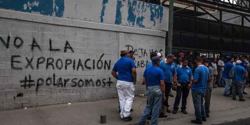 Demonstration about expropriation in Venezuela