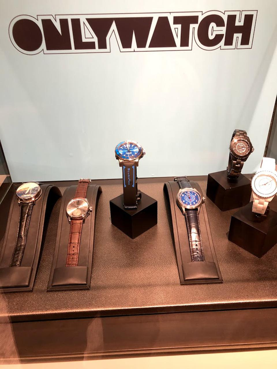 Only Watch timepieces on display at Christie's