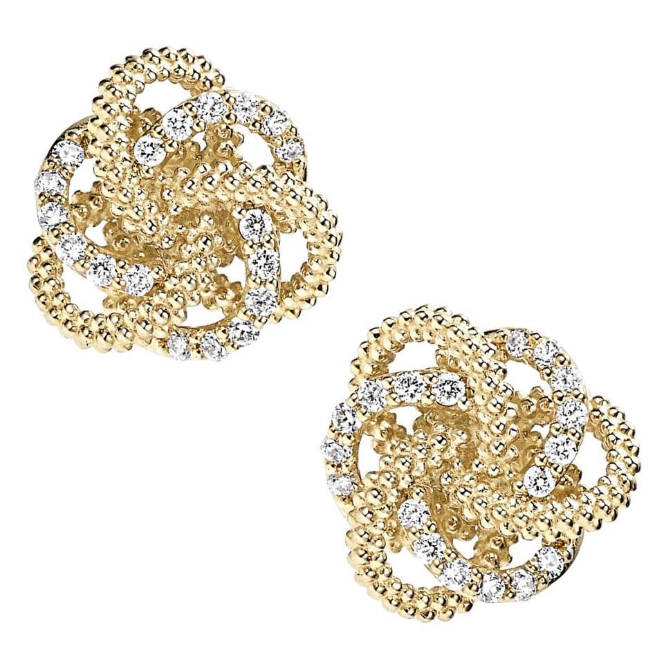 """Lagos """"Love Knot"""" Diamond Stud Earrings"""