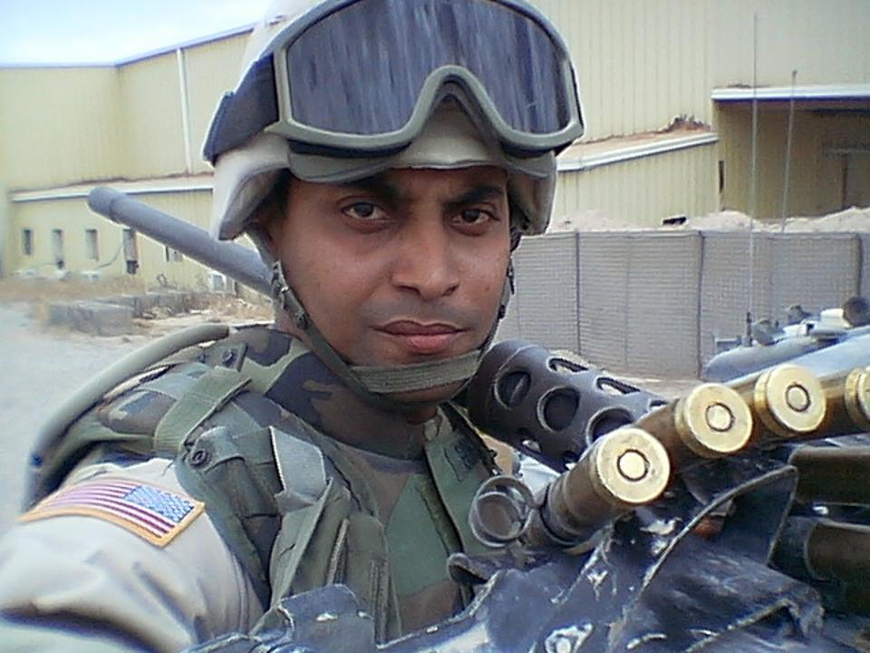 Army Specialist on patrol in Iraq