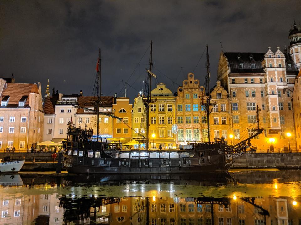 Sailing ship in Gdansk.