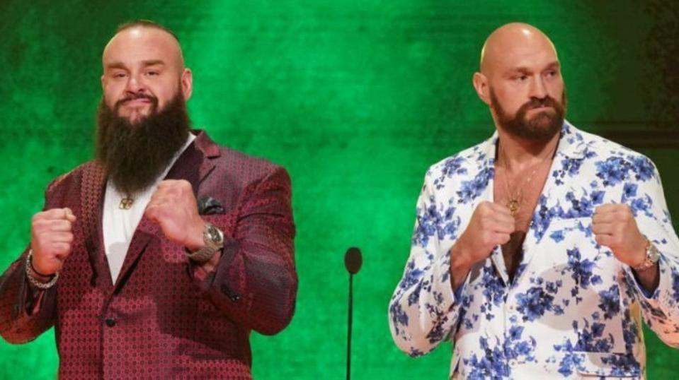 WWE Friday Night SmackDown Tyson Fury Braun Strowman Manchester England B-Team Results
