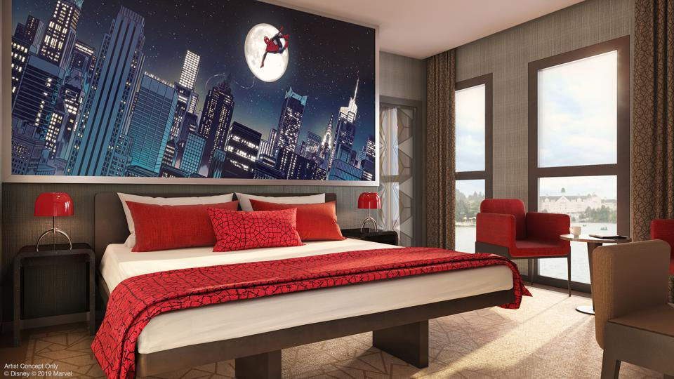 Rooms at Disney's Hotel New York – The Art of Marvel are inspired by iconic super heroes