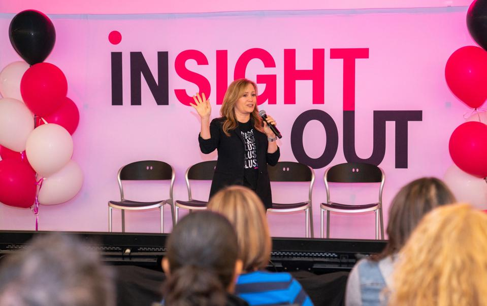 Holli Martinez, Vice President of D&I, T-Mobile, speaking at T-Mobile's ″Insight Out″ event.