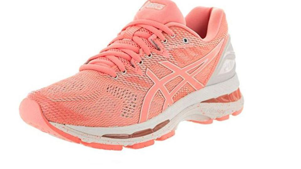 ASICS features a lower-density top layer in the midsole.