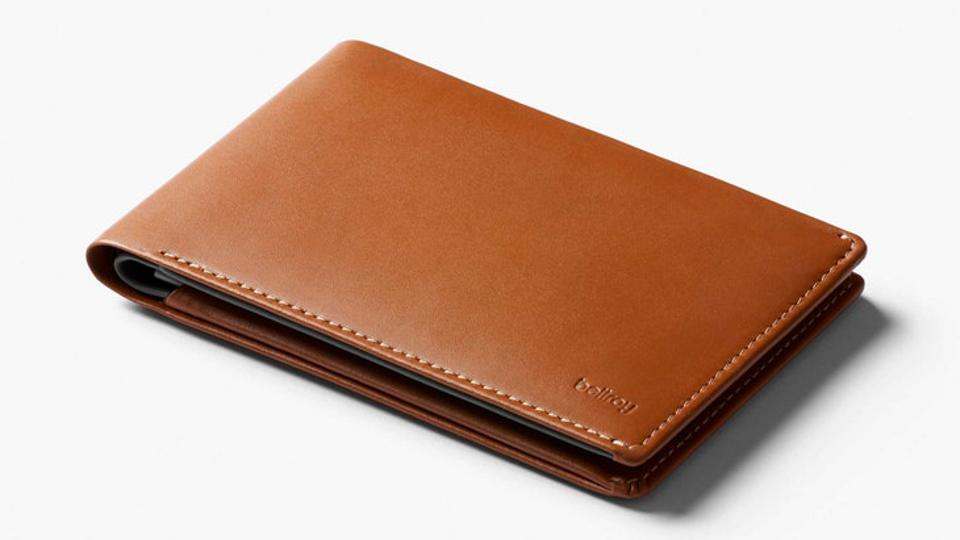 The Bellroy wallet features a hidden compartment for spare cash.