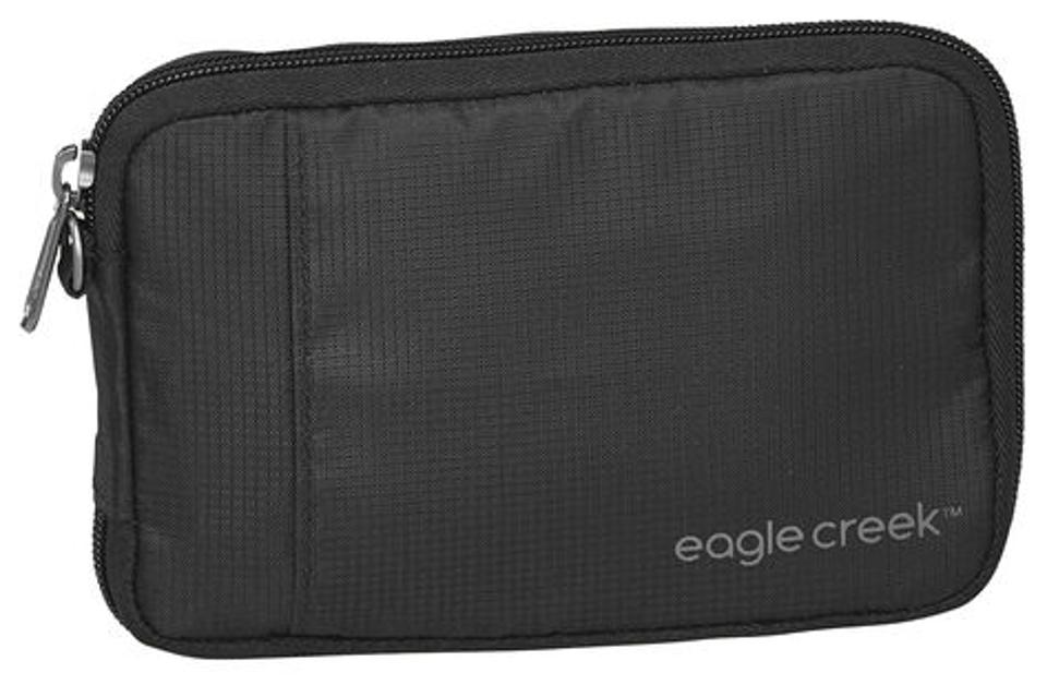 Eagle Creek zippered jumbo wallet can hold many items.