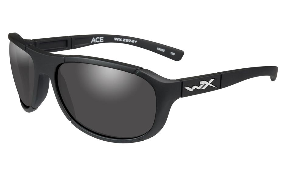 Wiley WX Ace sunglasses on display.