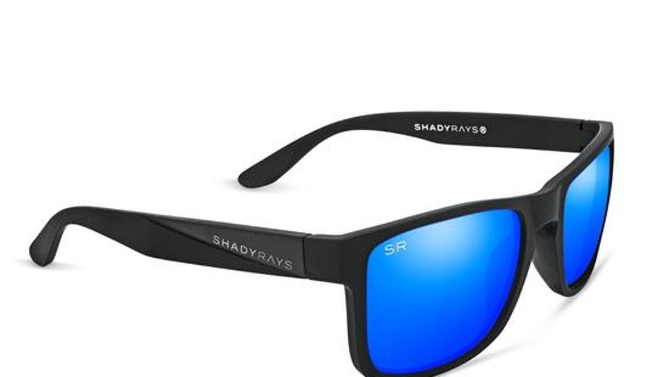 ShadyRays Black Glacier Polarized sunglasses.