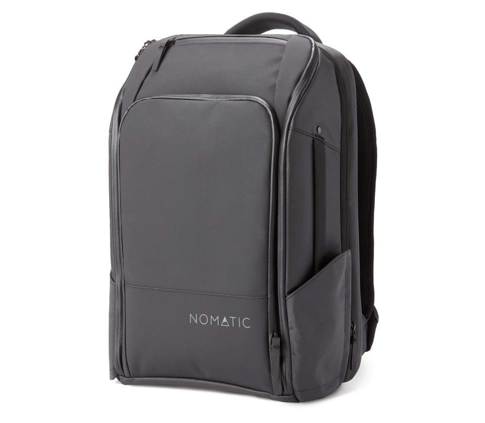The Nomatic backpack features a custom laundry bag for storage.