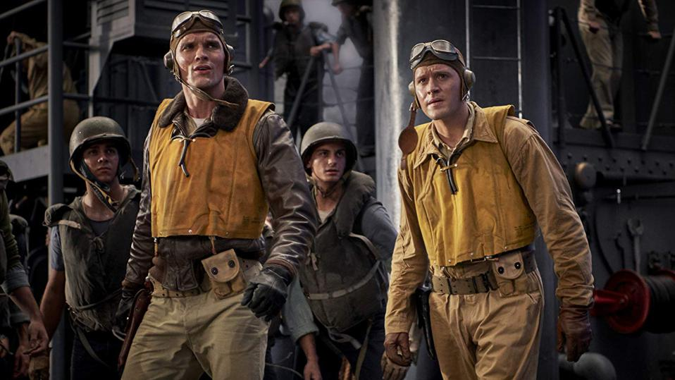 Luke Kleintank and Ed Skrein in Roland Emmerich's