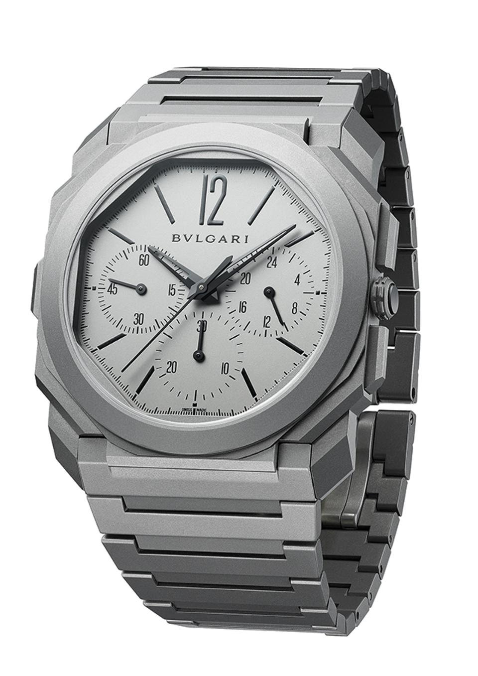 Bulgari took the prize for best Chronograph with its Octo Finissimo Chrono GMT, the world's thinnest chronograph.