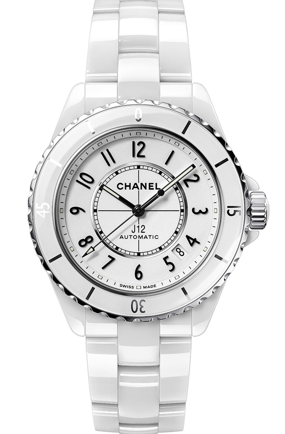 Chanel won the Ladies Watch category for the J12 Caliber 12.1, a redesign of the iconic model first introduced in 1999.