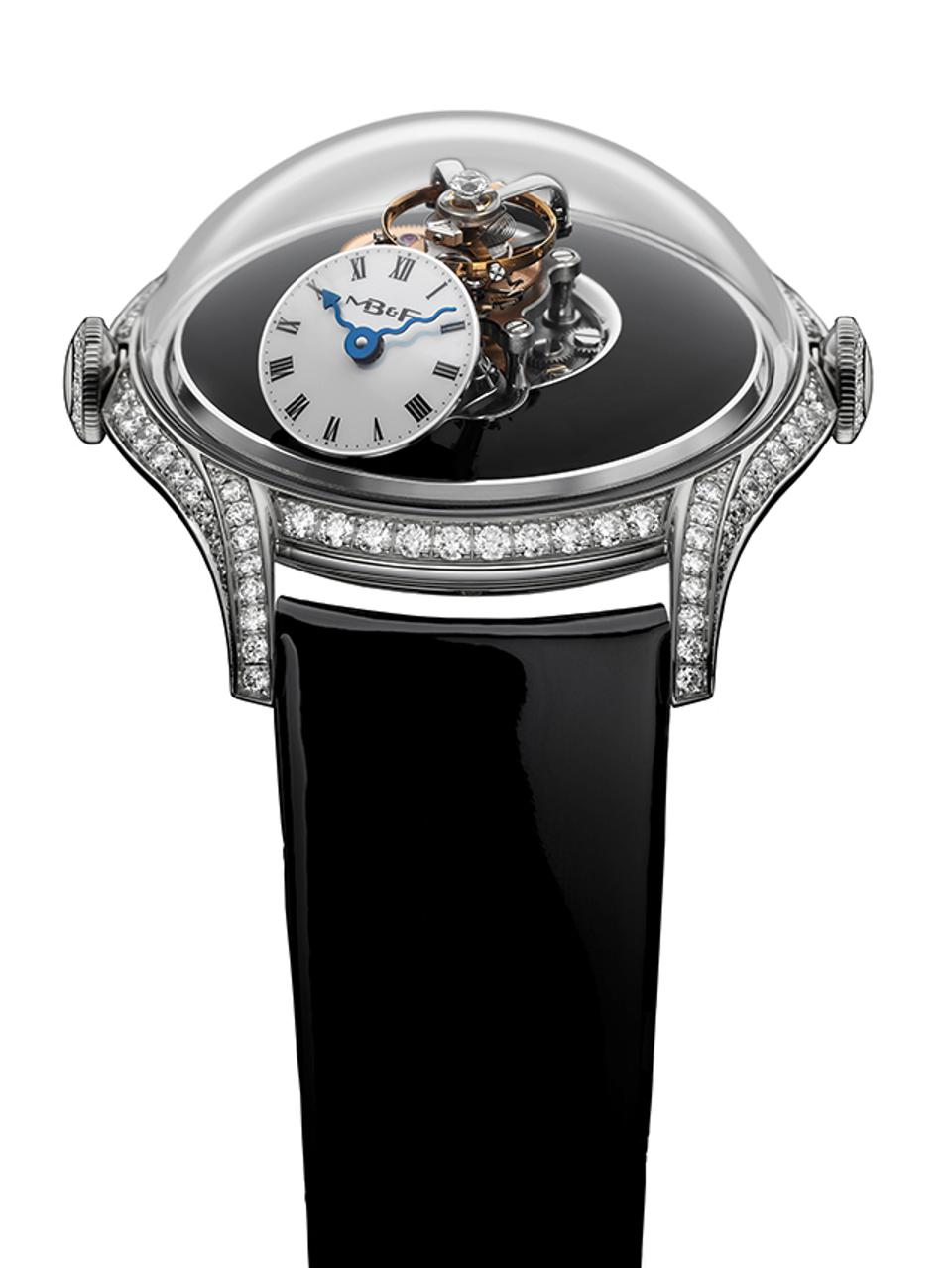 MB&F won the Ladies Complication category for the Legacy Machine FlyingT, a flying tourbillon with high dome-shaped sapphire crystal.