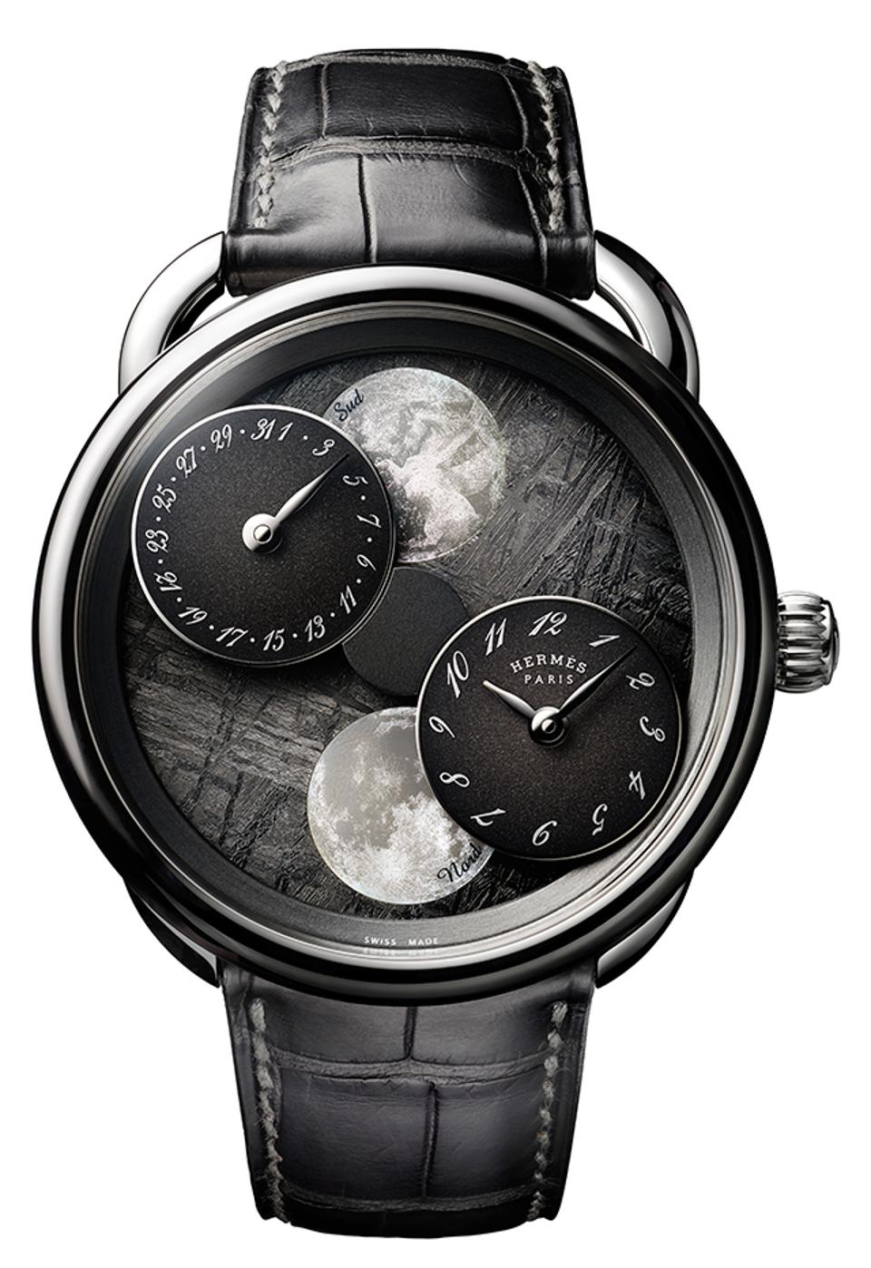 Hermès won the Calendar and Astronomy category for the Arceau L'heure de la lune, a double moon phase indicator for both southern and northern hemispheres.