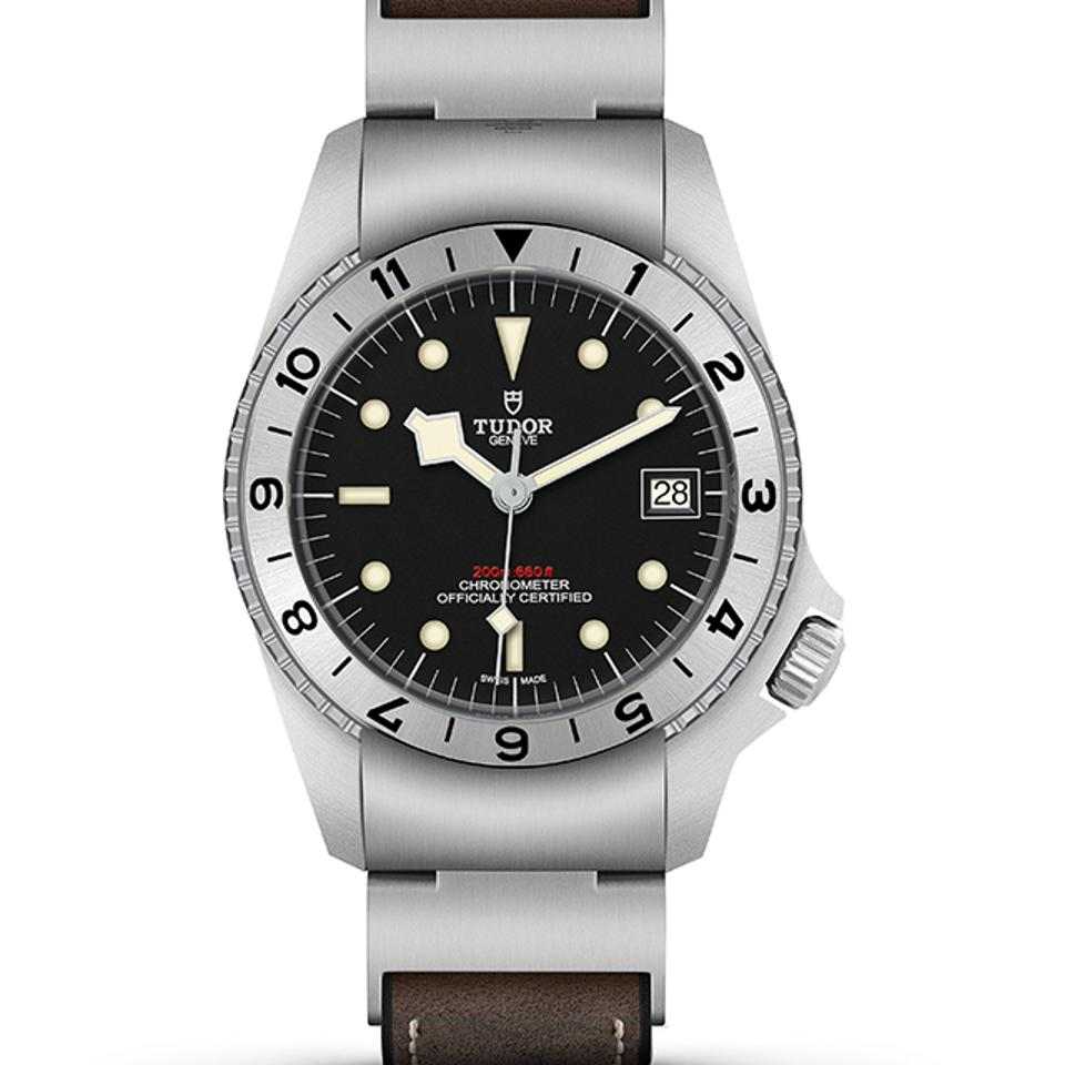 Tudor took the award for the Challenge watch prize for its Black Bay P01, based on a legendary 1960s prototype, with a crown at 4 o'clock.