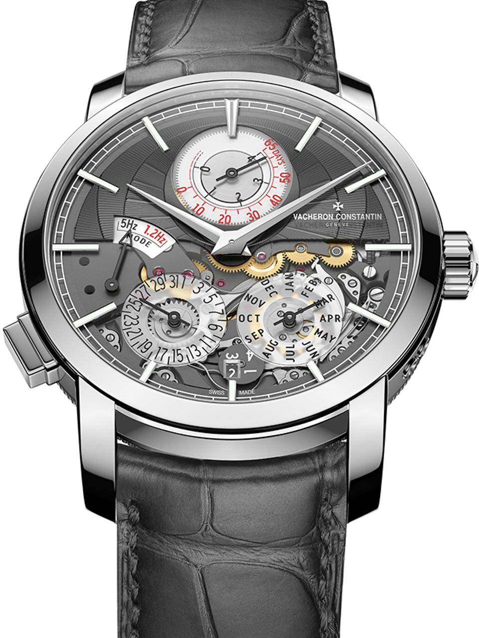 Vacheron Constantin won the Innovation prize for the Traditionnelle Twin Beat perpetual calendar, with a proprietary dual-frequency movement that enables a 65-day power reserve.