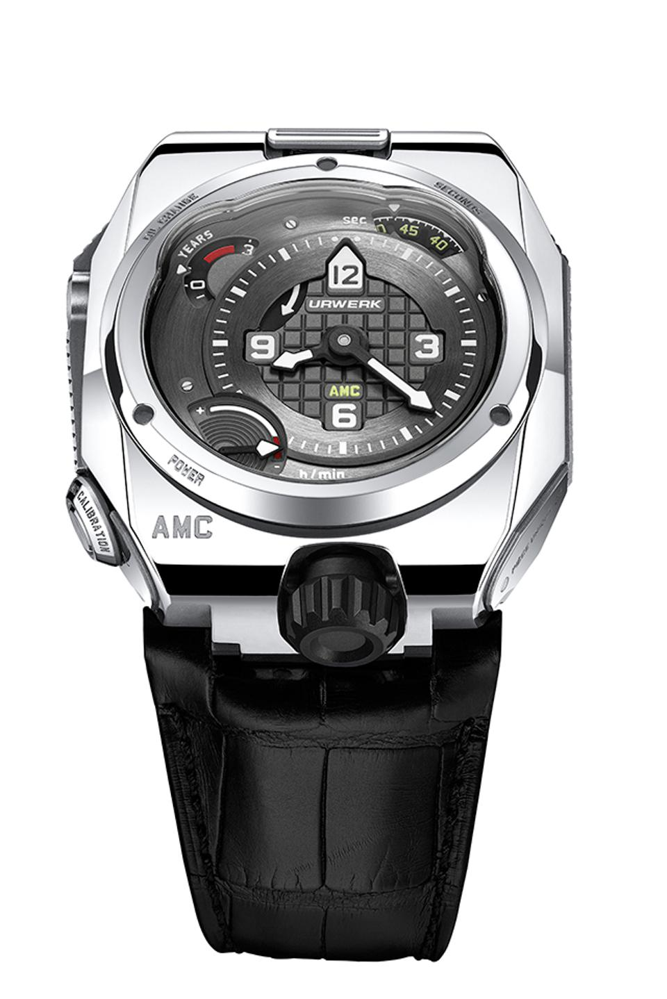 Urwerk took the Audacity prize for the AMC, which uses a combination of mechanical and atomic timekeeping systems.