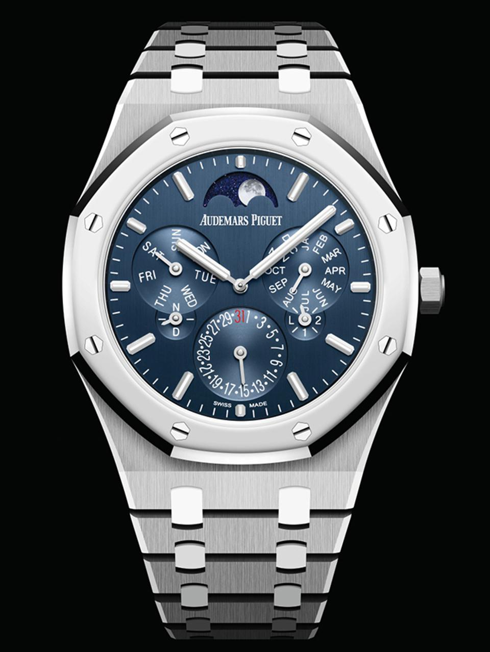 The Grand Prize, called the Aiguille d'Or, went to Audemars Piguet for the Royal Oak Selfwinding Perpetual Calendar Ultra-Thin